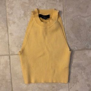 Forever 21 cropped yellow tank